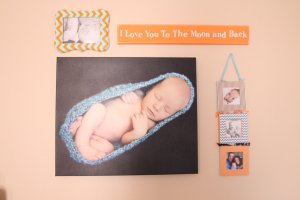 Baby Boy Nursery Gallery Wall - Our first baby boy nursery decor - This is our Bliss