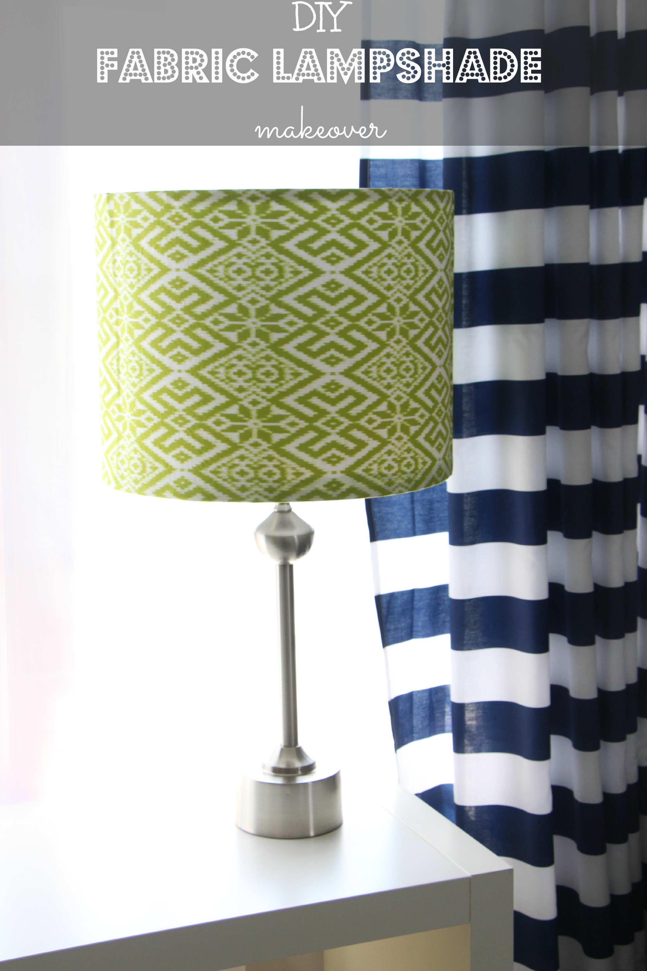 I Have Another Super Quick Easy DIY Project For You Today A Fun Fabric Covered Lampshade Made Mine Little Man But Could Make Yours