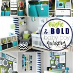 Simon's nursery | bright and bold baby boy nursery | navy green and gray little boy room | This is our Bliss | www,thisisourbliss.com