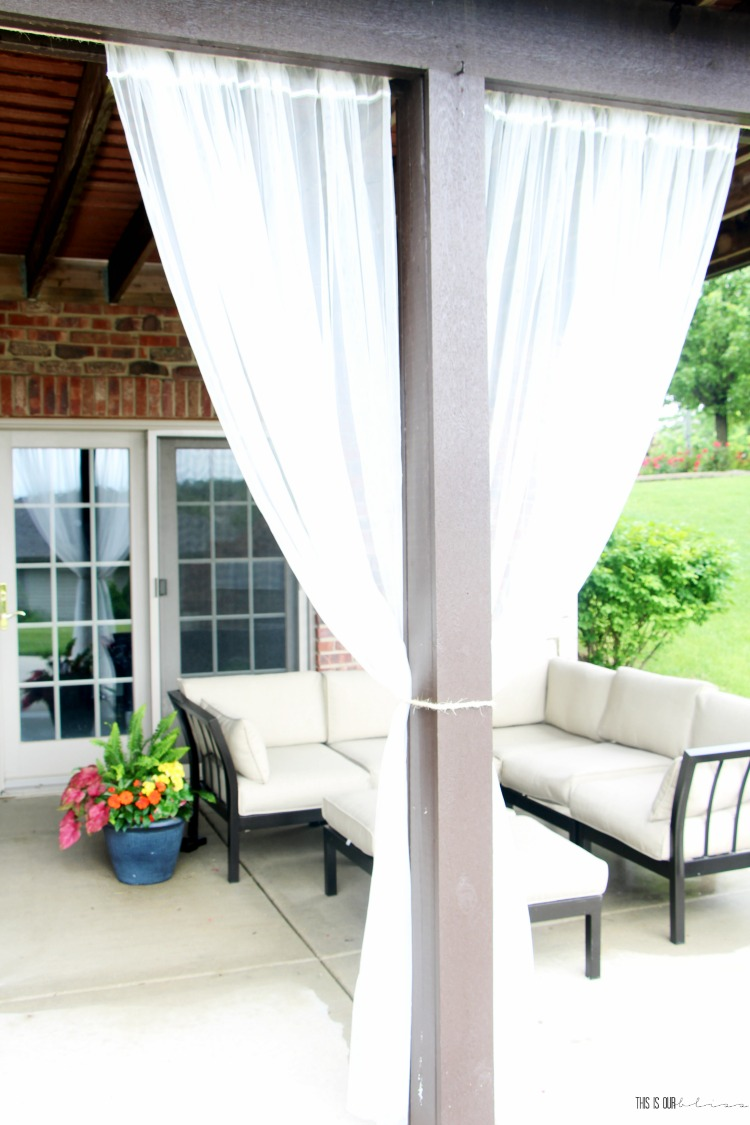 Diy Under Deck Outdoor Curtains For 20 This Is Our