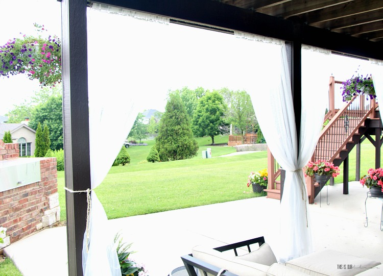 Diy Under Deck Outdoor Curtains For Under 20 This Is Our