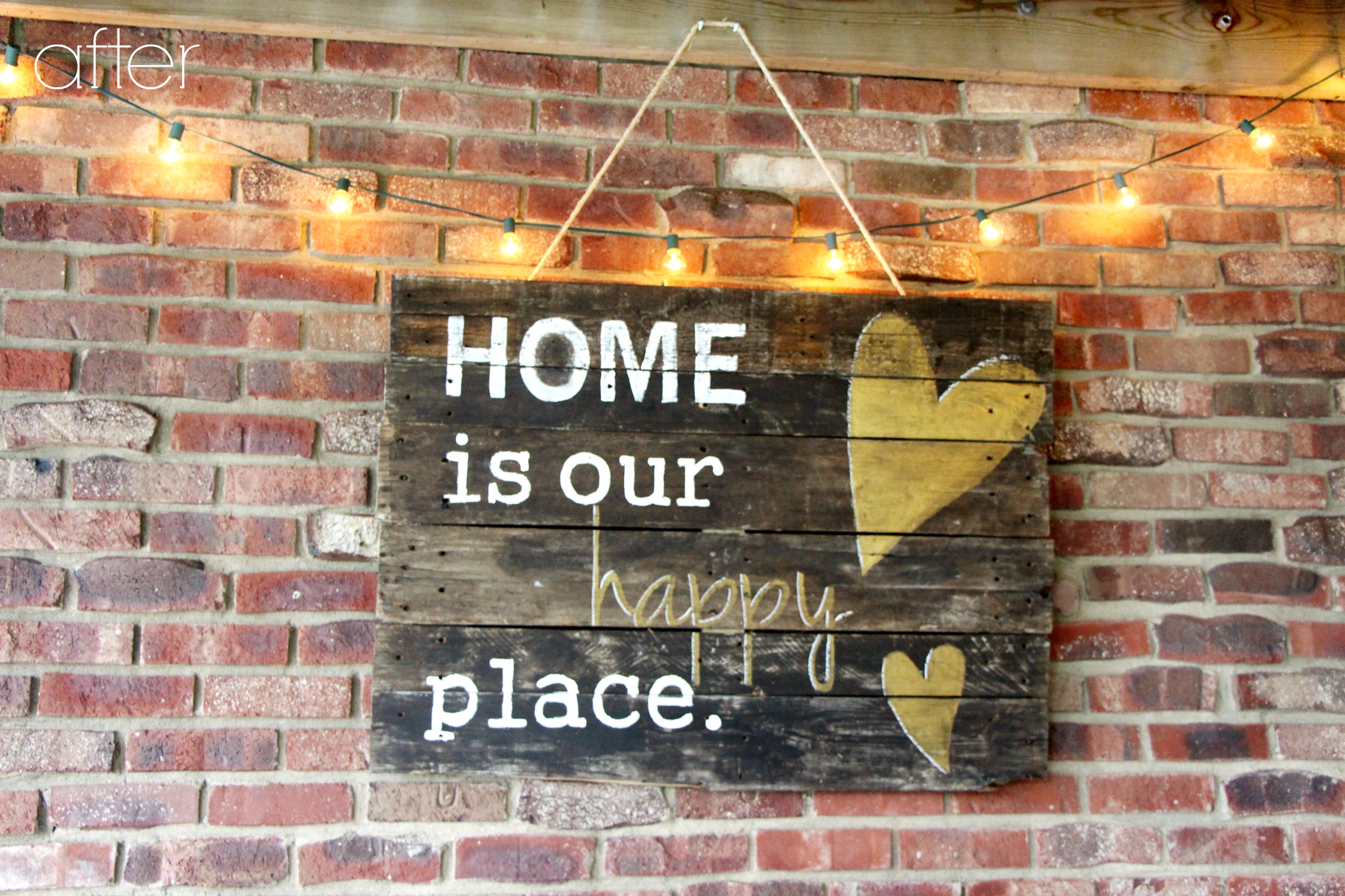 how to make a pallet wood sign   DIY outdoor pallet decor   outdoor decor   This is our Bliss