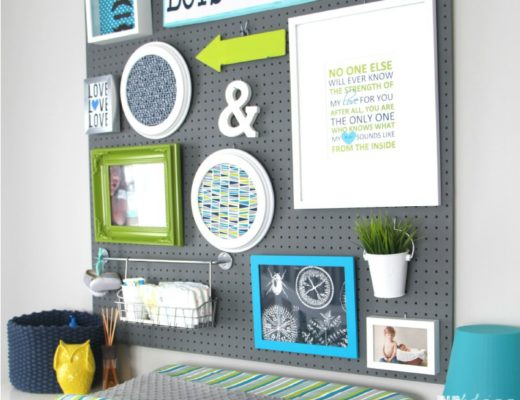Baby Boy Nursery Pegboard Gallery Wall featured - This is our Bliss