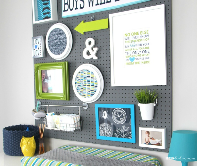Nursery Project: Pegboard Gallery Wall - This is our Bliss