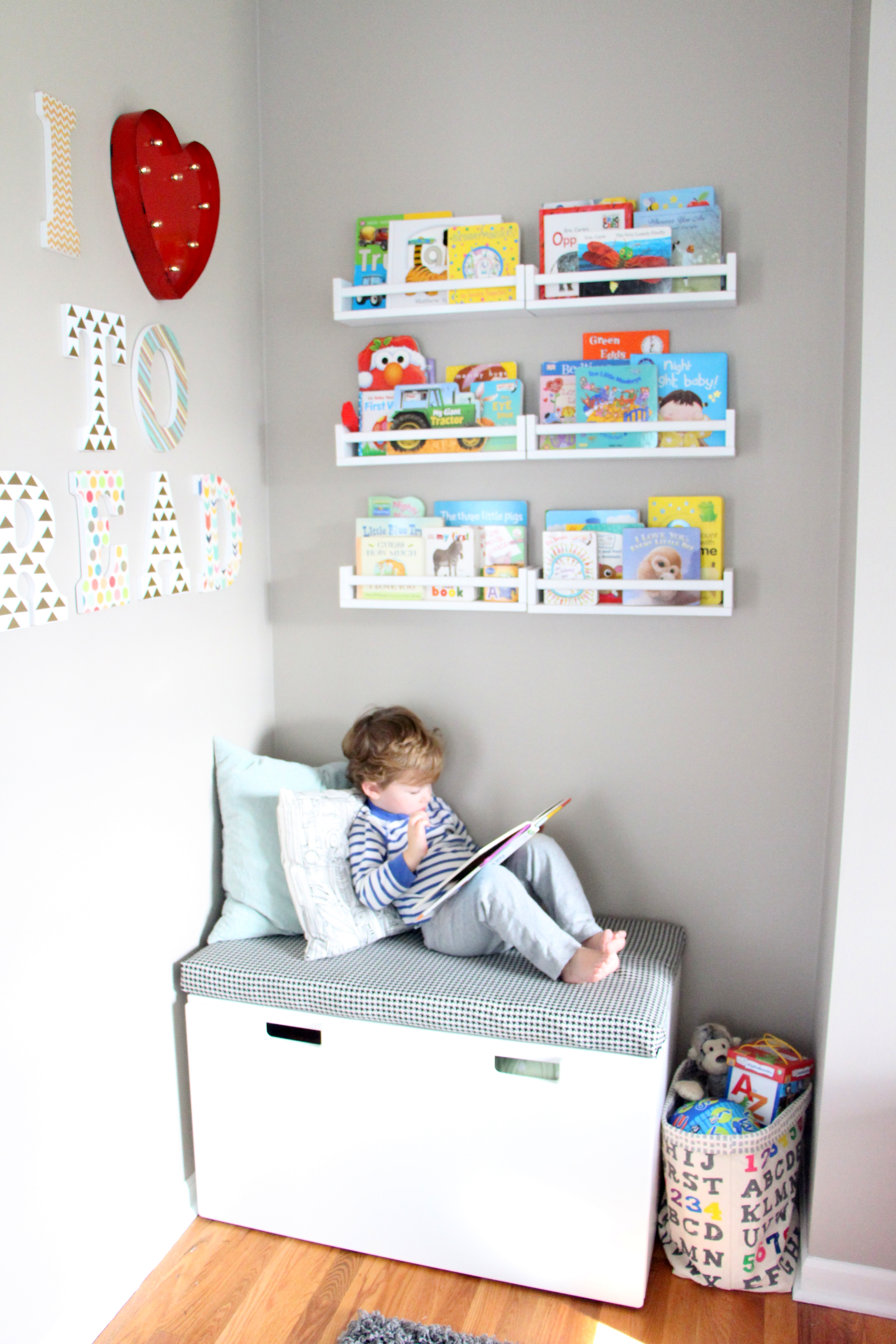 Playroom Reading Nook Diy Bench For Reading Nook This Is Our Bliss