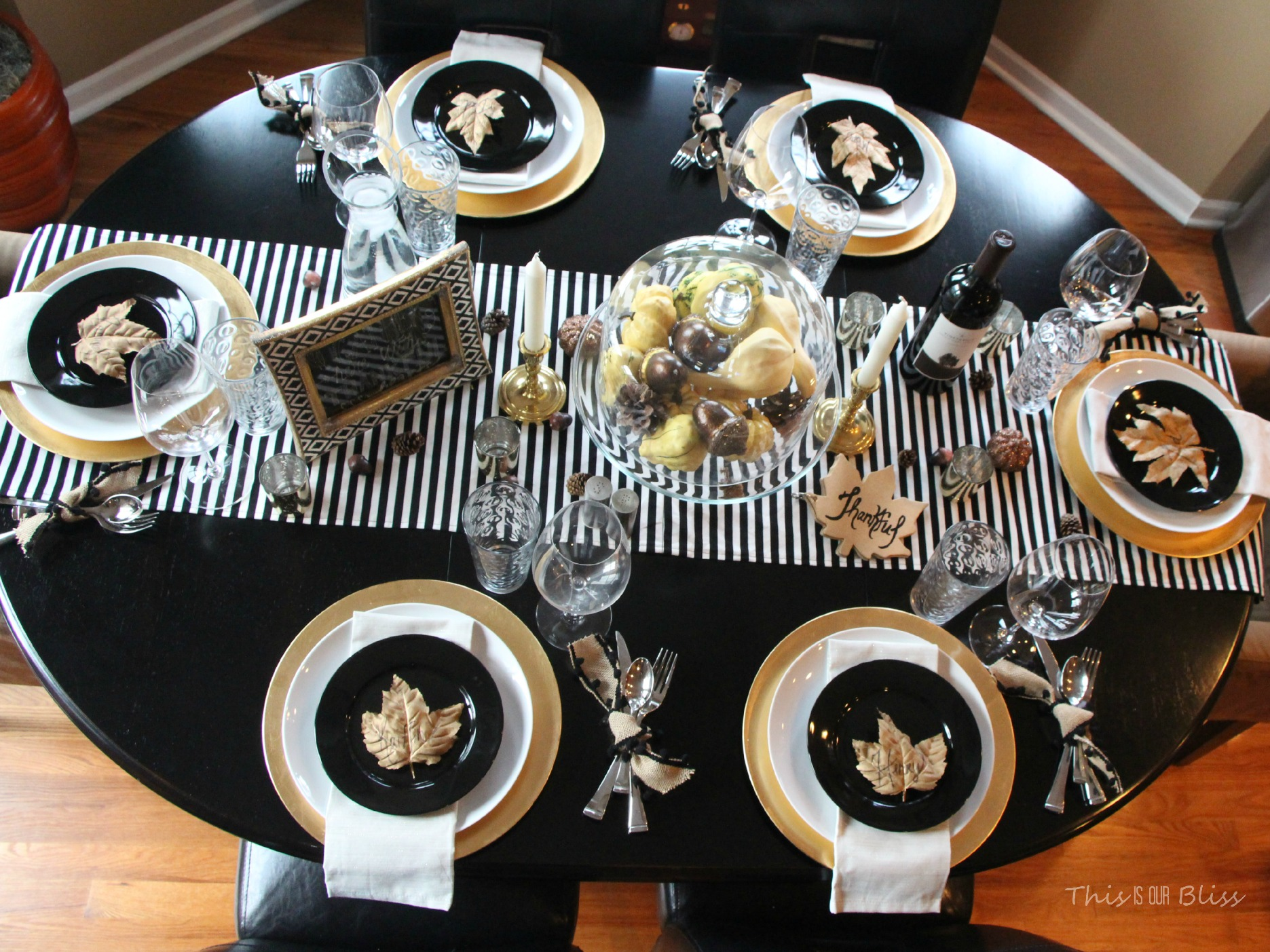 Modern Amp Elegant Thanksgiving Table Black White Amp Gold
