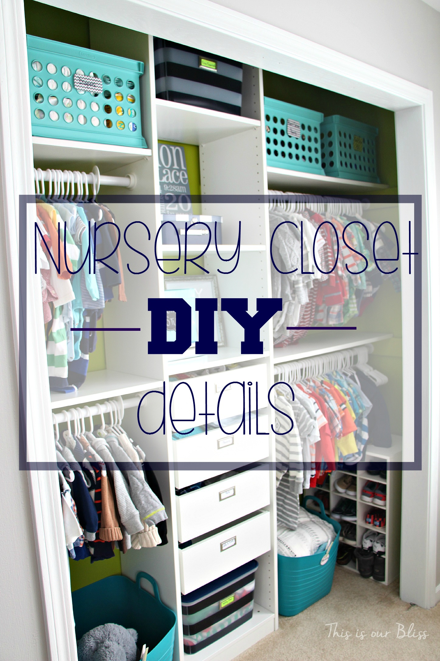 Baby Boy Nursery Closet DIY Details | How to DIY a Custom Nursery Closet | This is our Bliss | www.thisisourbliss.com