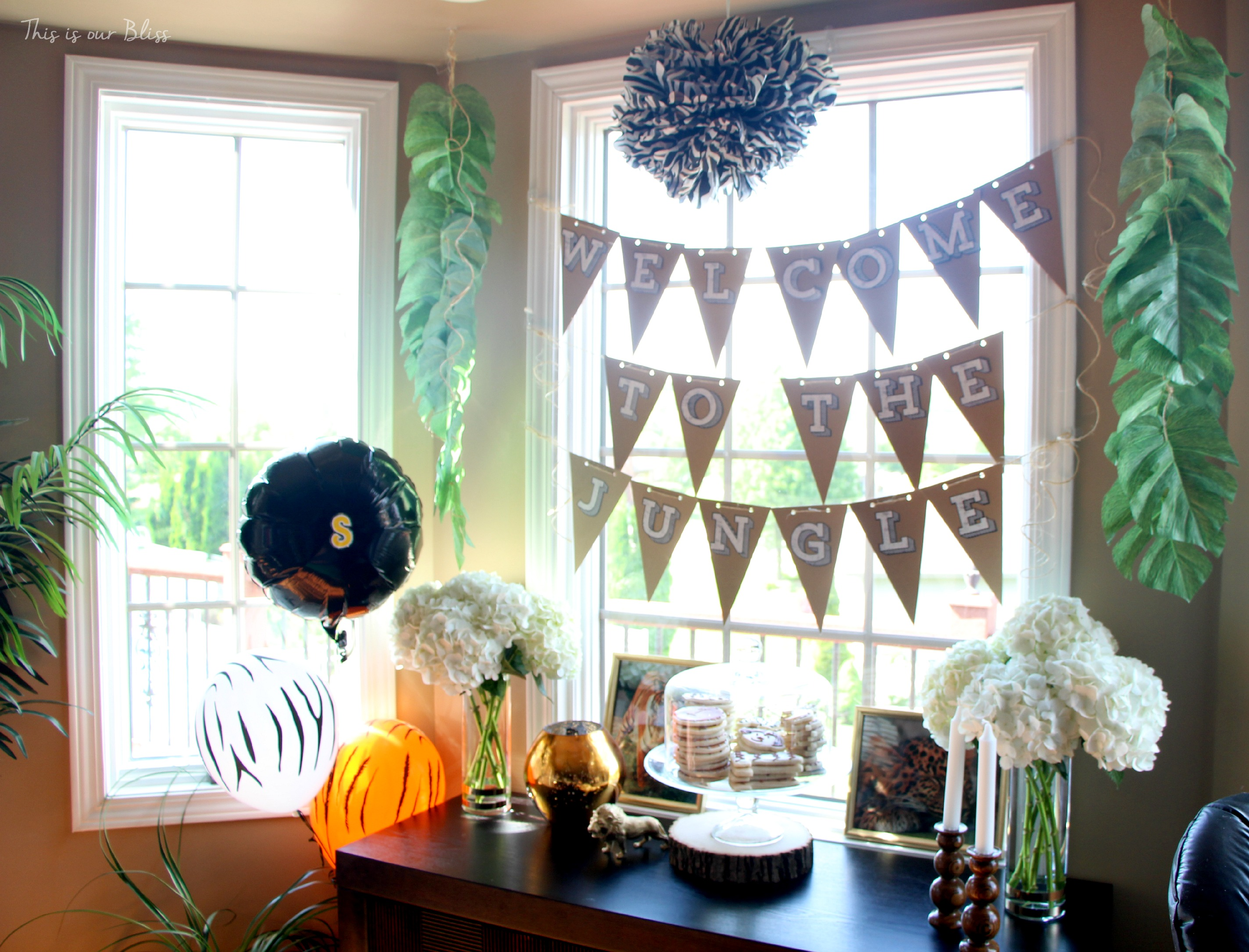 Welcome To The Jungle Safari Jungle Birthday Party First