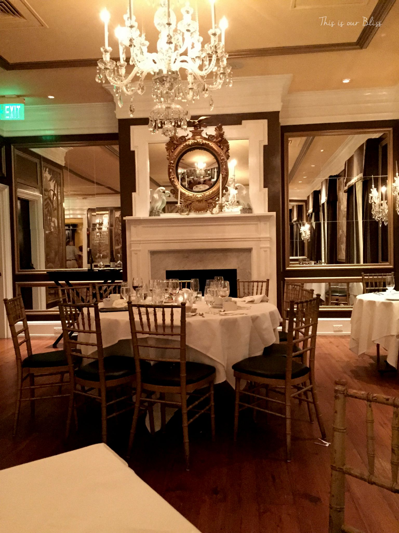 The Olde Pink House Restaurant inside Savannah GA This is our