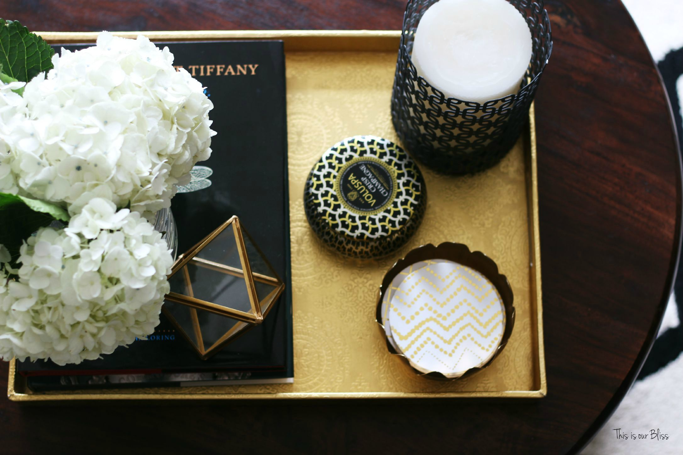 How to style a coffee table - coffee table styling - elements of a well-styled coffee table - Back to Basics 2 - This is our Bliss