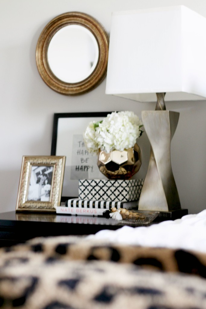 How to style a nightstand - bedside table styling essentials - back to basics - This is our Bliss