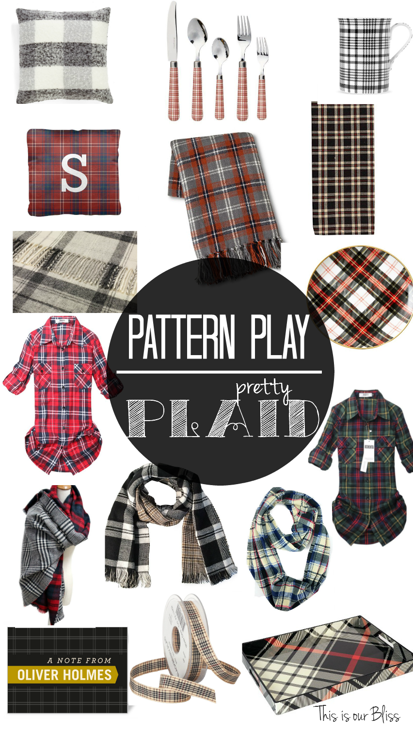 Pattern play pretty plaid fall plaid round up for the home and closet 1 This is our Bliss