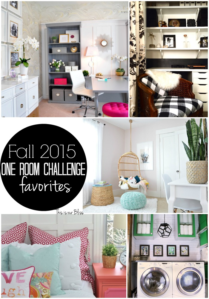 This is our Bliss Fall 2015 One Room Challenge Favorites