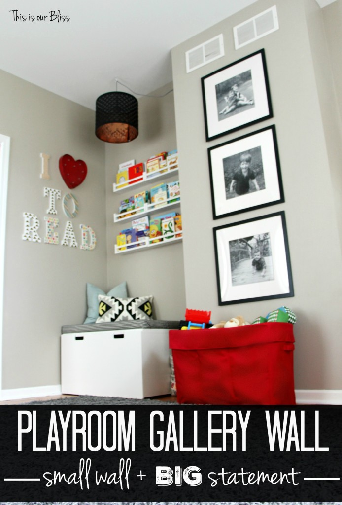 3 Stacked Frames | Mini playroom gallery wall | This is our Bliss