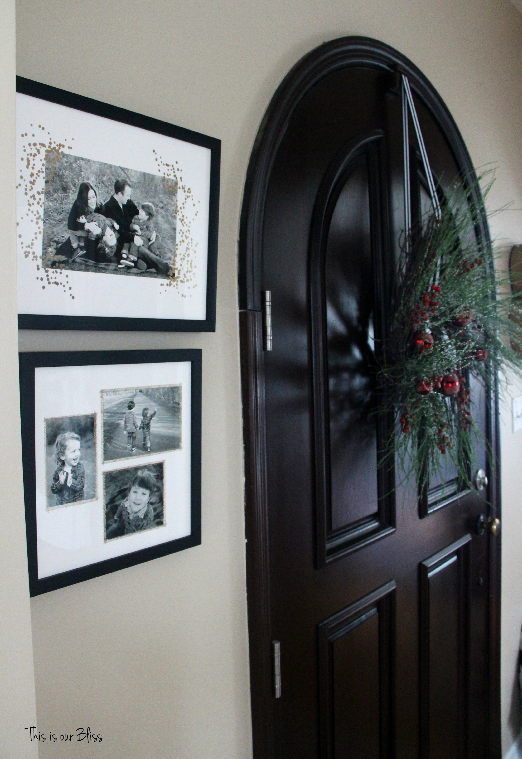 minted photo art - holiday front door and christmas wreath - This is our Bliss