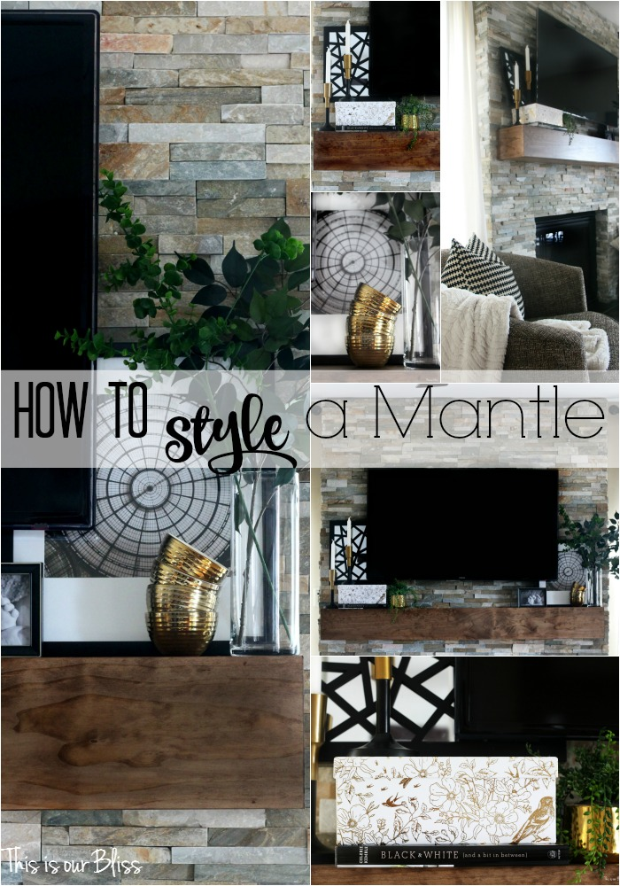 How to style a mantle This is our Bliss