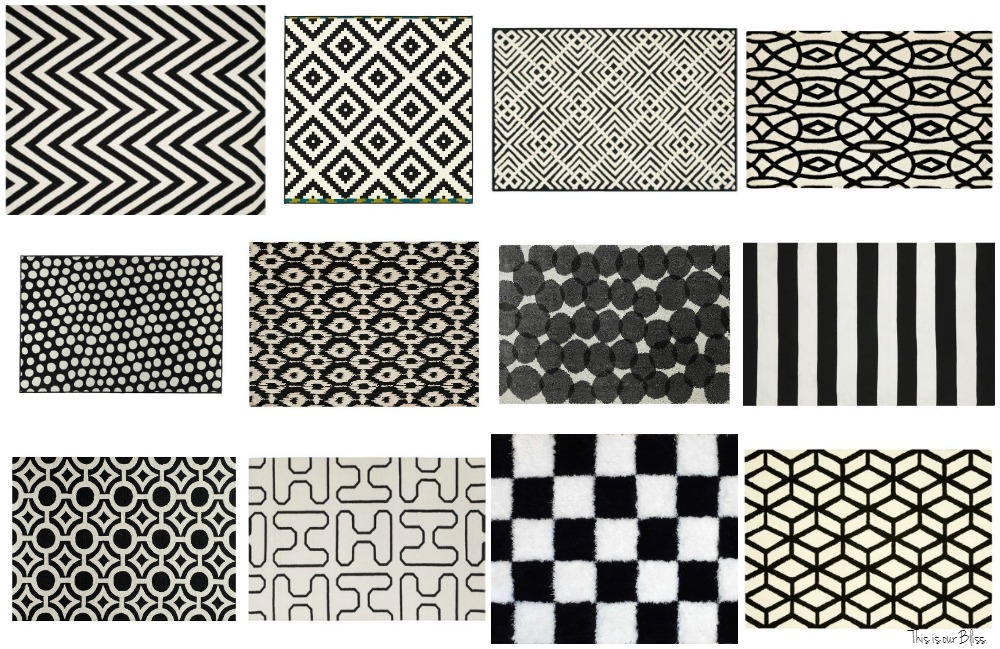 12 Bold Black And White Rugs Geometric This Is Our Bliss