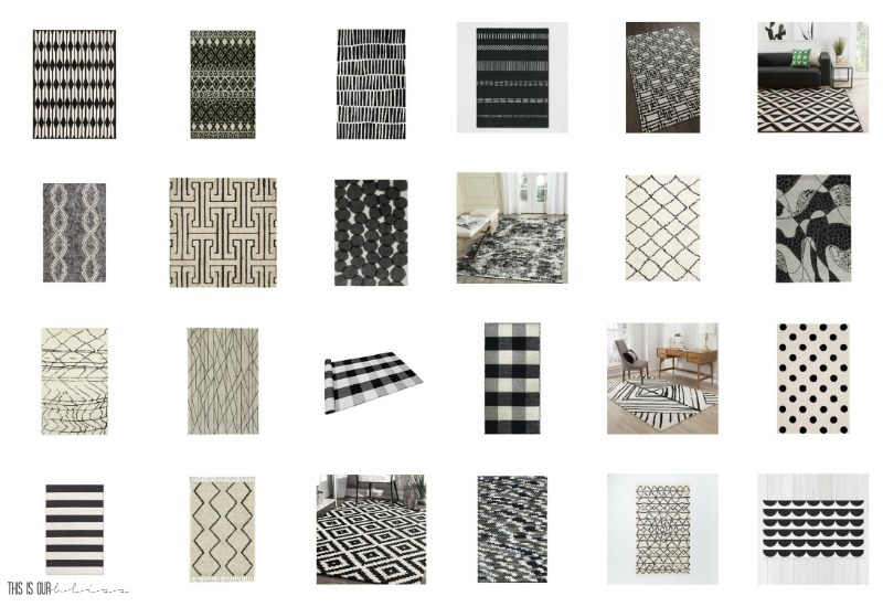 Where To Buy Bold Black And White Rugs For Any Room This