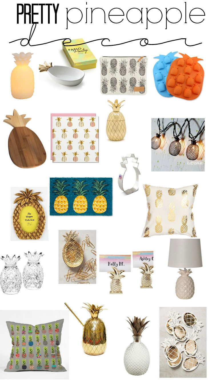 pretty pineapple decor - summer styling - pineapple home decor - This is our Bliss - www.thisisourbliss.com
