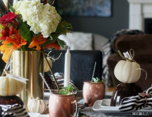 Simple Fall Tablescape fall-table-gathering-fall-tablescape This is our Bliss www.thisisourbliss.com