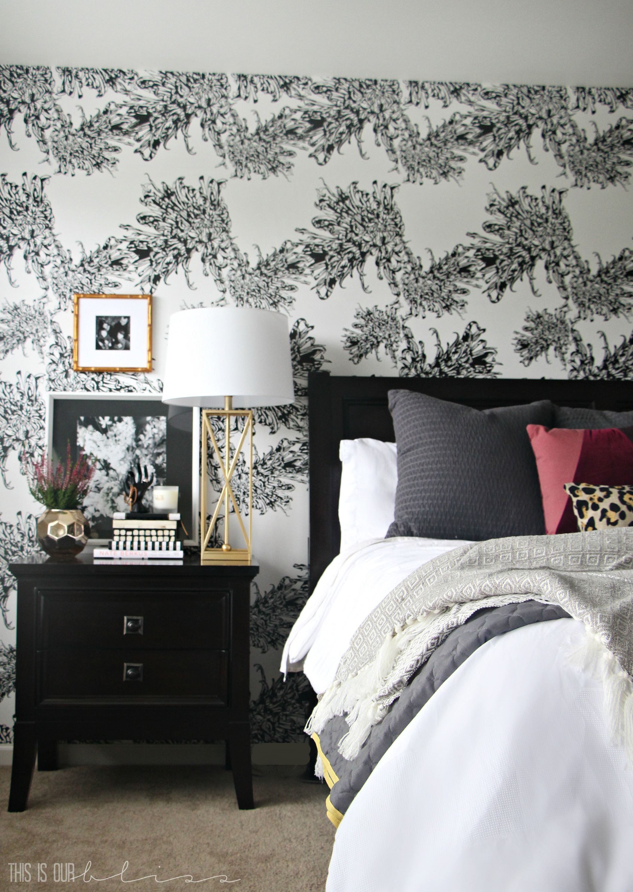 master-bedroom-accent-wall-black-and-white-wallpaper-this-is ...