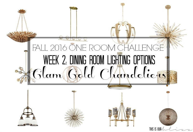 ORC Week 2 Glam Gold Chandelier For The Dining Room
