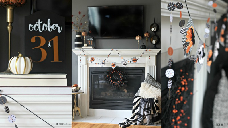 Simple Halloween Mantel | last-minute Halloween decorating | This is our Bliss | www.thisisourbliss.com