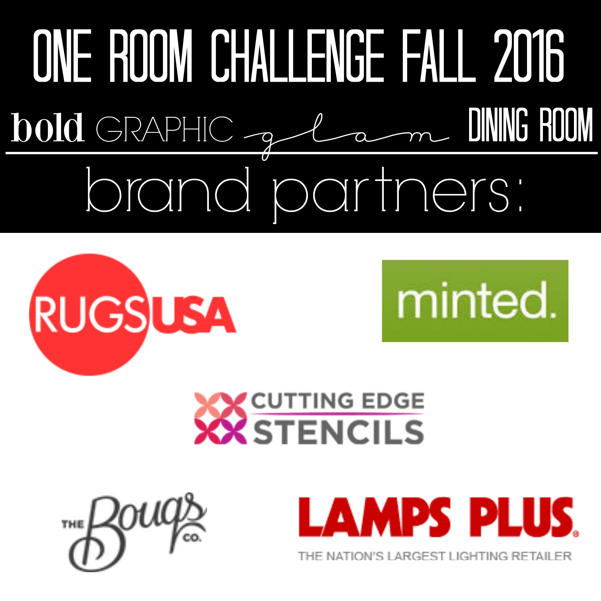 One Room Challenge Bold Graphic Glam Dining Room This