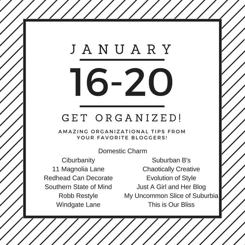 Get Organized Blog Hop 2017 | This is our Bliss