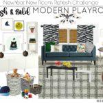 Stylish and Bold Modern Playroom | New Year New Room Refresh Challenge Week 1