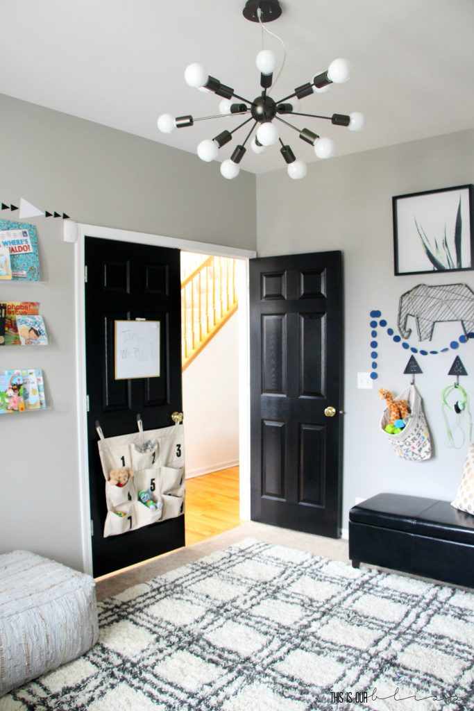 Stylish And Bold Modern Playroom Reveal This Is Our Bliss