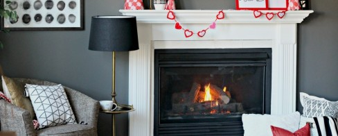 How to Create a Simple Valentine's Day Mantel