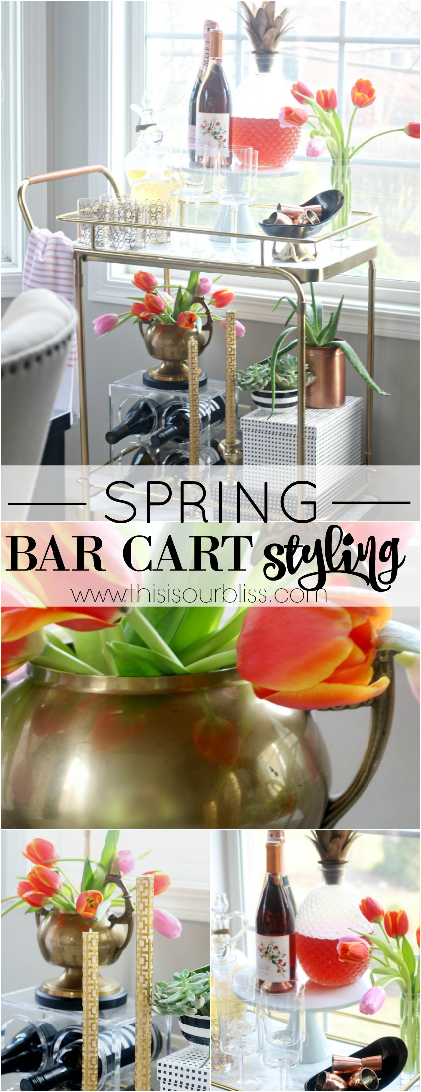 How to style your bar cart for Spring! | This is our Bliss