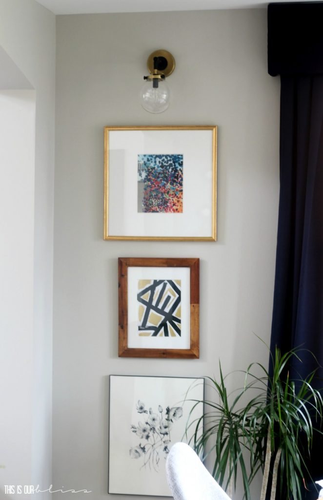 diy-wall-art-in-dining-room-stacked-frame-gallery-wall This is our Bliss
