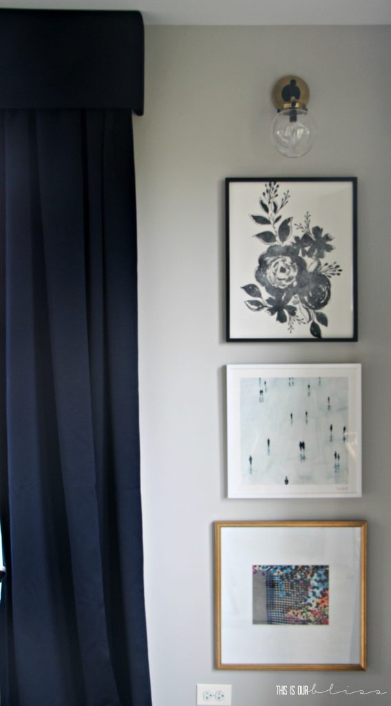one-room-challenge-dining-room-stacked-frames-gallery-wall This is our Bliss