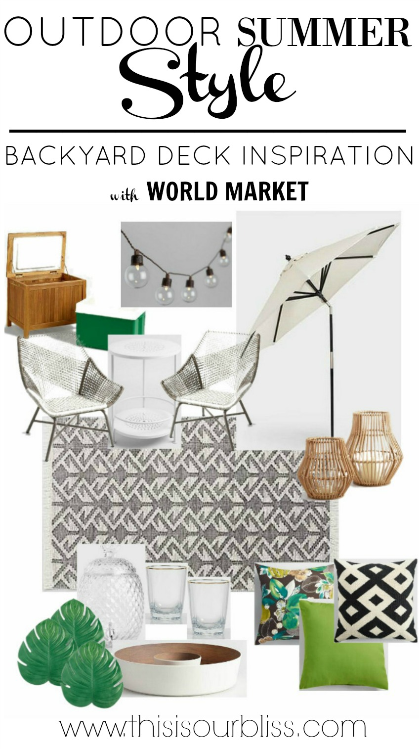 Outdoor Inspiration | Backyard Deck Makeover Ideas from World Market | www,thisisourbliss.com