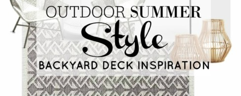 Outdoor Summer Style | Backyard Deck Inspiration