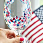 How to Make a Red, White and Blue Confetti Star Wine Glass