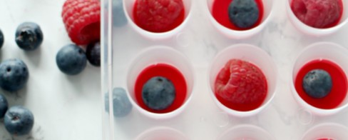 4 Days of Festive & Frugal 4th of July of Ideas | Raspberry & Blueberry Ice Cubes