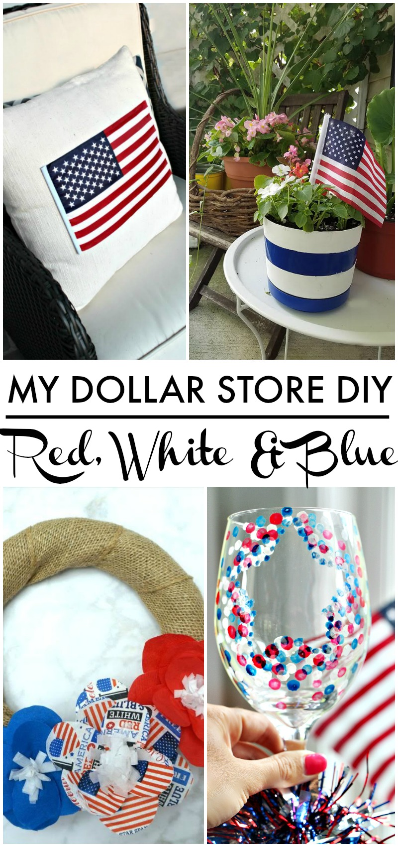 Diy Red And Black Eye Makeup: Red, White & Blue Confetti Star Wine Glass