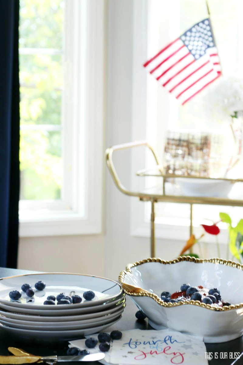 Festive & Frugal 4th of July Party Ideas   30 second Raspberry Chipotle Cream Cheese Dip   This is our Bliss