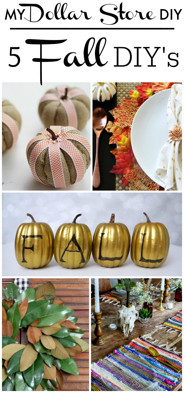 DIY Dollar Store Supply Projects for Fall