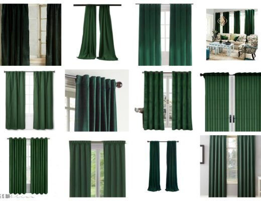 Drop dead gorgeous dark green drapes curtains for your home - This is our Bliss