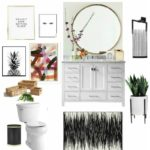 Powder Room Refresh: The Before + Inspiration   $100 Room Challenge Week 1