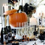 Chic Halloween Sips & Sweets Table [How To Host a Girls Night In]