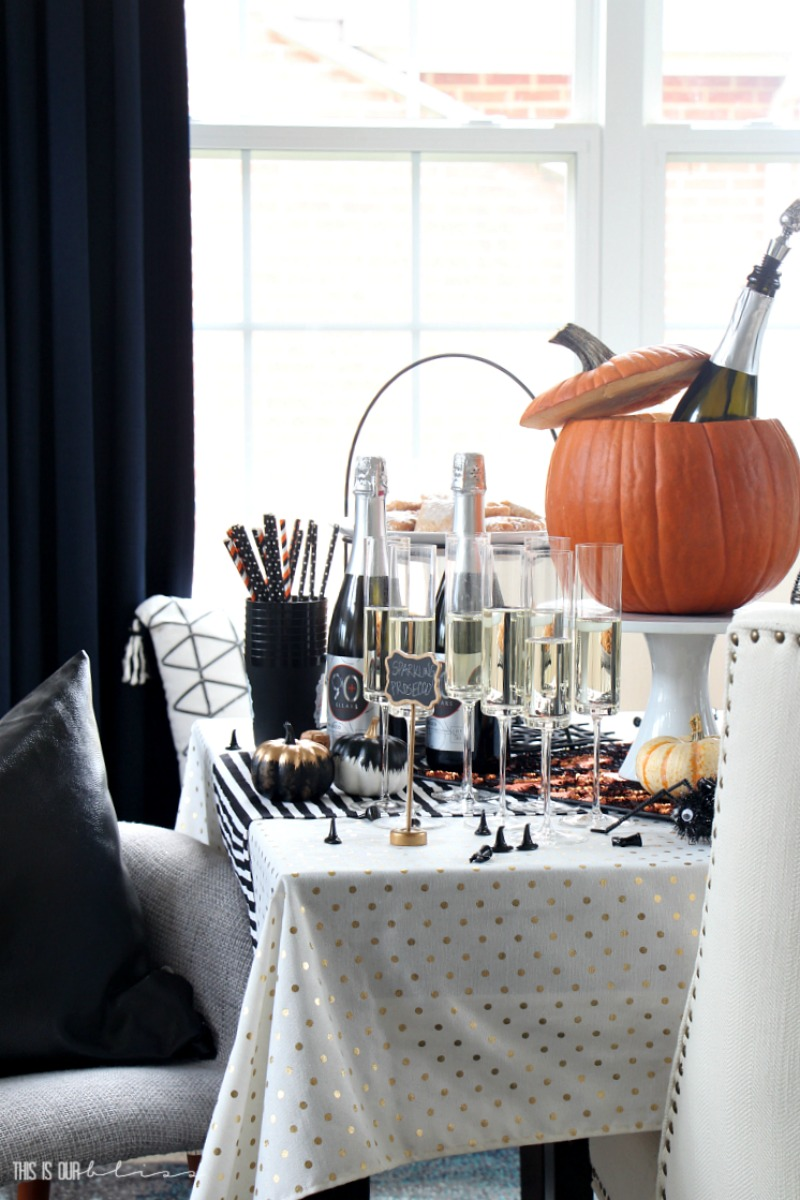 Halloween Table - Sips & Sweets for a Girl's Night In