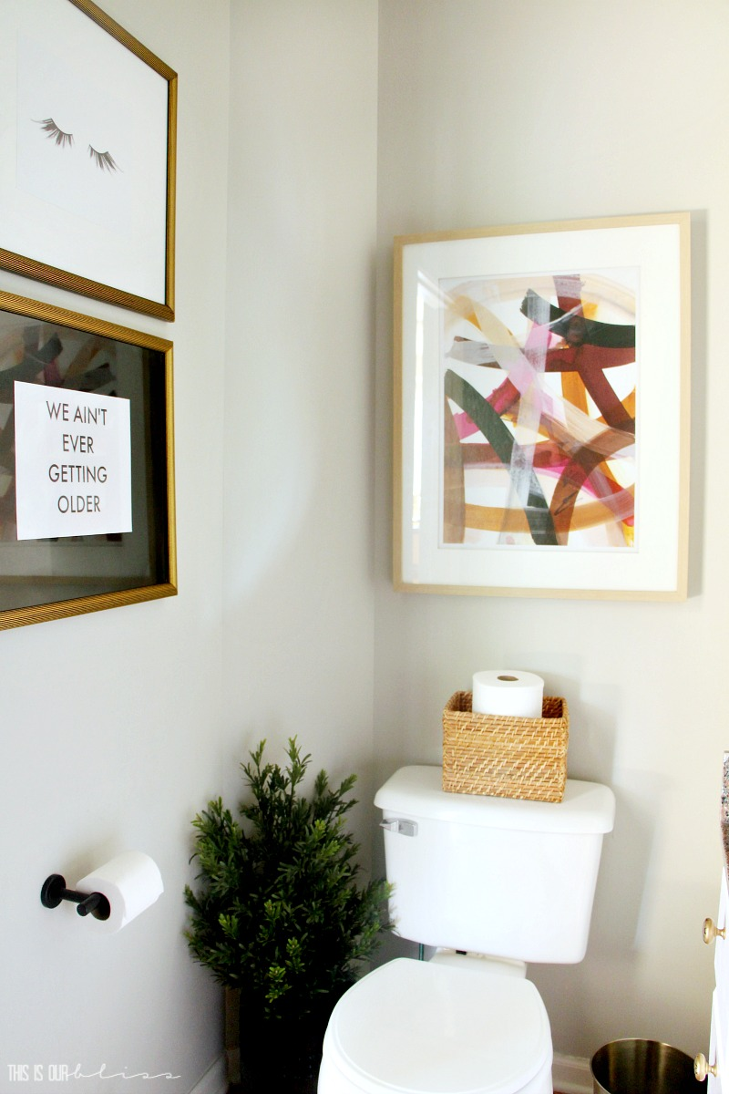 Pretty in Pink Powder Room Refresh Reveal | This is our Bliss