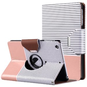 Black and white Striped with Rose Gold Ipad Mini Case