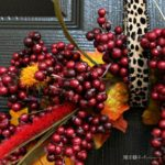 autumn leaf and berry wreath featured image