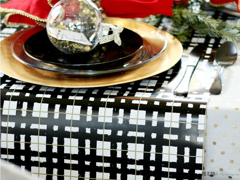 Christmas Table Runner Diy.2 Diy Wrapping Paper Table Runner This Is Our Bliss